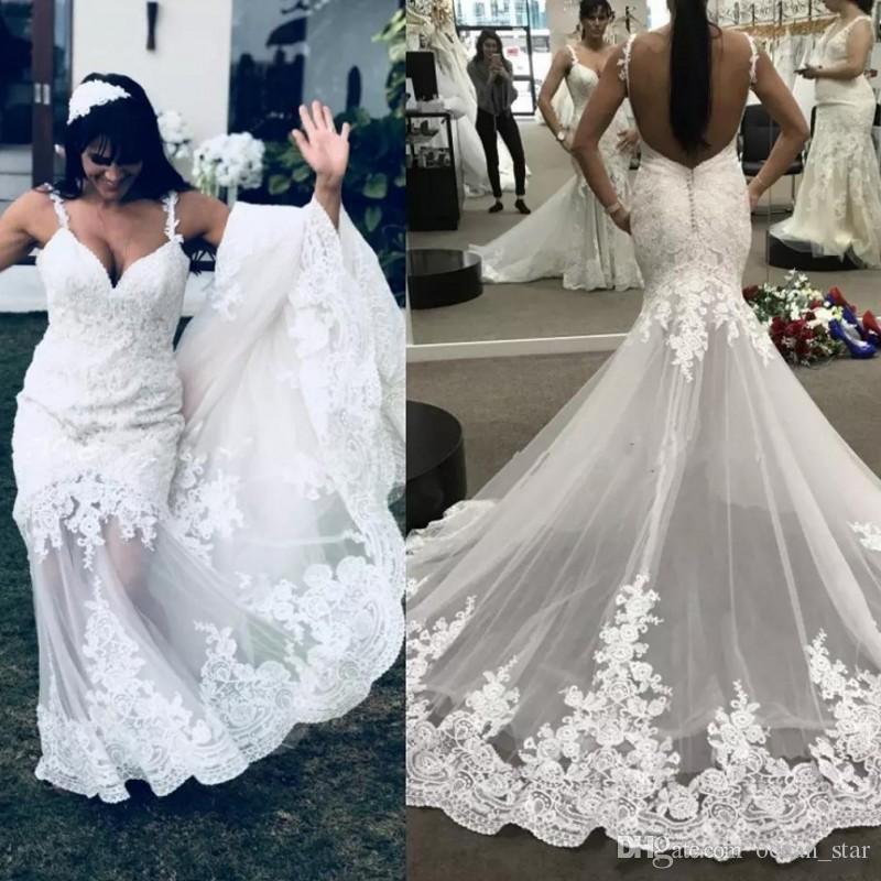 lace spaghetti beach wedding dresses summer