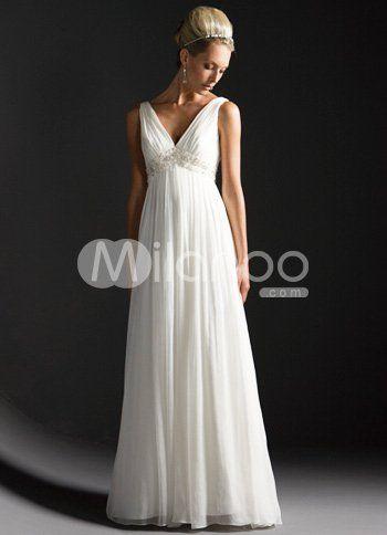 designer wedding dress according to summer wedding dresses white empire waist v neck beaded chiffon