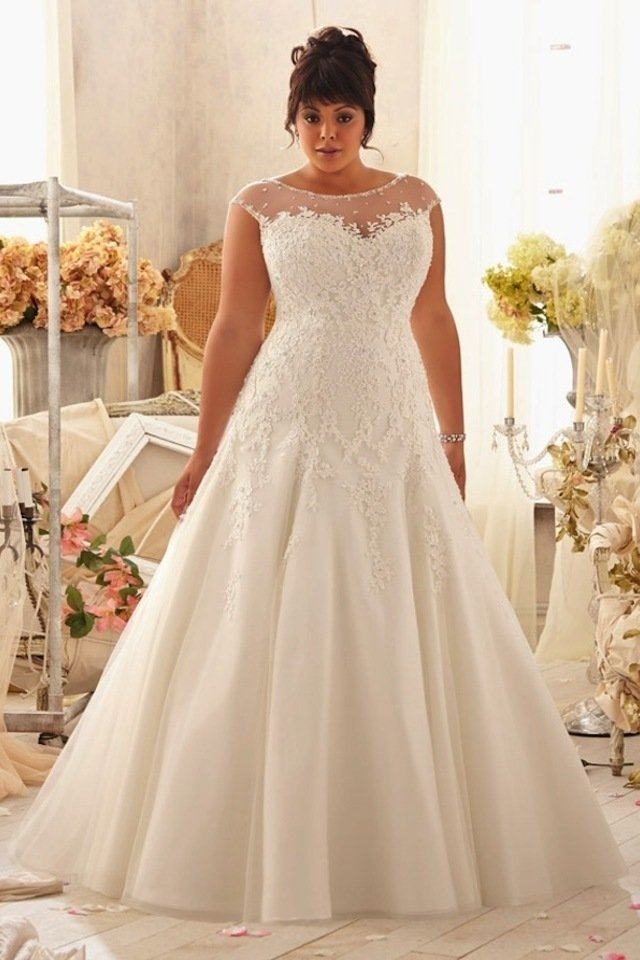 large Fustany Fashion Weddings How to Hide Belly Fat with Your Wedding Dress 6