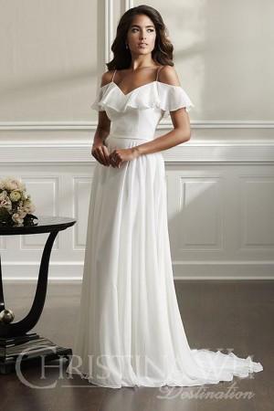 christina wu ruffle top wedding dress 01 545