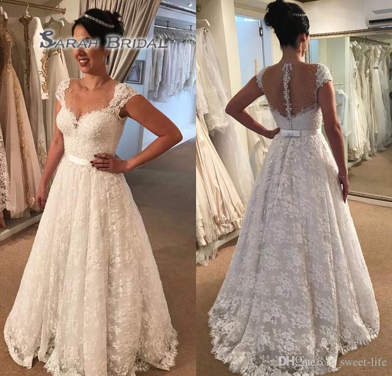Wedding Dress Made In Usa Inspirational White Ivory Wedding Dress Noble Appliqued Lace Country Garden Bride Bridal Gown Custom Made Plus Size