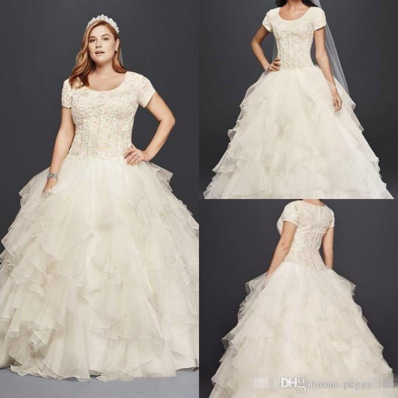 cheap vintage wedding dresses discount oleg cassini modest ruffle country lace wedding dresses charming
