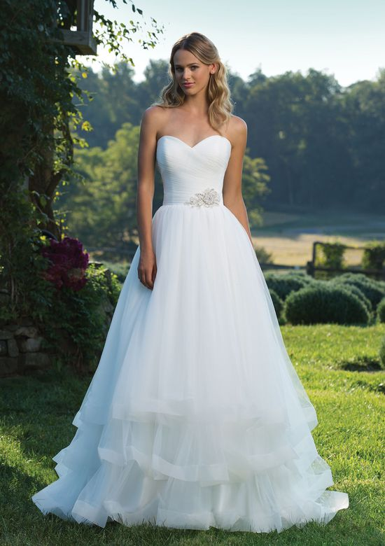 Wedding Dress Style Elegant Style 3890 Ruched Tulle Ball Gown with Sweetheart Neckline