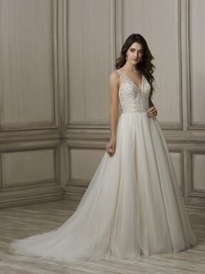 adrianna papell brooke beaded bodice bridal dress 01 466