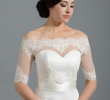 Wedding Dress topper Unique F Shoulder Dot Lace Bolero Wedding Jacket Wedding Dress