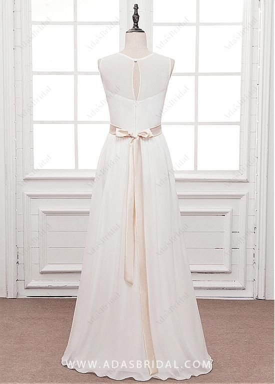 Wedding Dress Under 100 Elegant 119 99] Elegant Chiffon Jewel Neckline A Line Wedding Dress