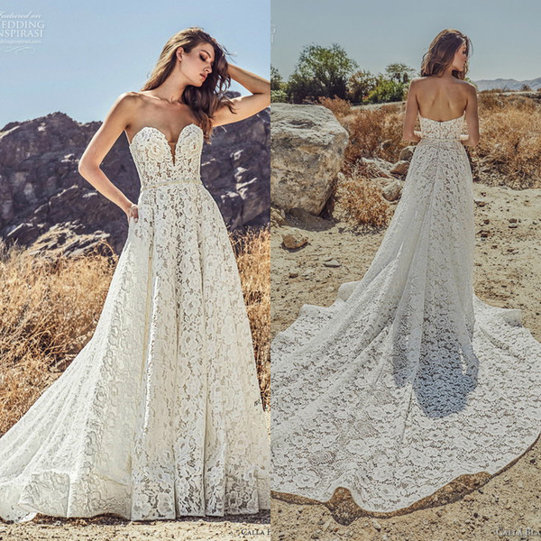 Wedding Dress Under 100 Elegant Discount Julie Vino 2019 A Line Wedding Dresses Sweetheart Lace Beading Sash Beach Boho Bridal Gowns Plus Size Bohemian Robe De Mariée Wedding Dresses