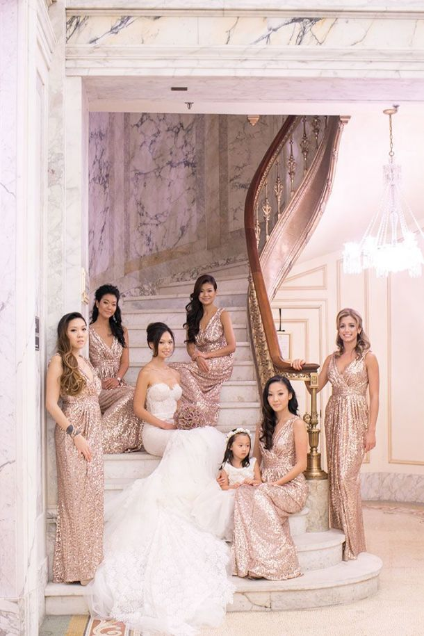 gold and white wedding gown beautiful superb rose gold wedding dress oceane bridal crown od seashells and