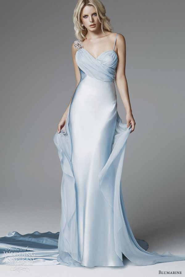 Wedding Dress with Blue Accent Inspirational Blumarine 2013 Bridal Collection