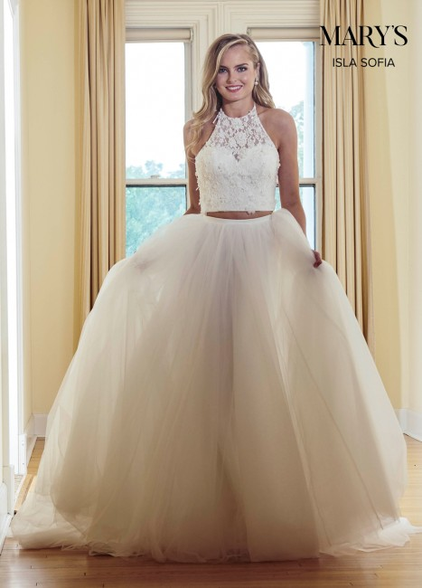 marys bridal mb5006 halter top two piece wedding gown 01 546