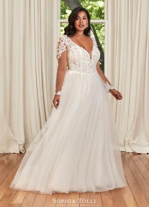 sophia tolli y bls camryn grace v neckline bridal gown 01 681