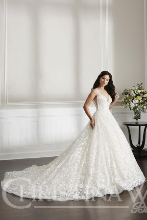 christina wu plunging neck wedding gown 01 541