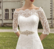 Wedding Dresses Budget Beautiful Scalloped Neckline Half Sleeve Floor Length A Line Lace Up