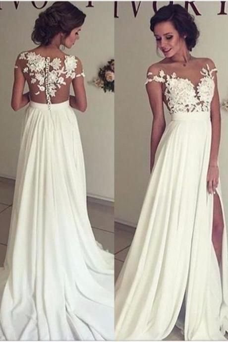 wedding prom dresses see through lace wedding dress beach wedding gown y see through fresh