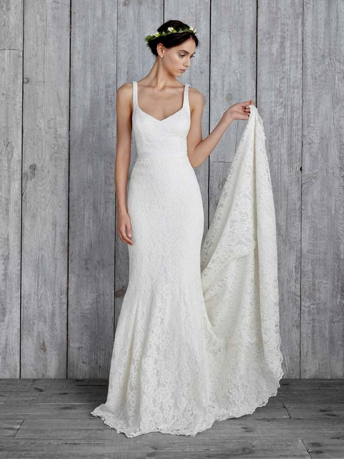 simple beige wedding dresses simple wedding gowns for the minimalist bride preferred