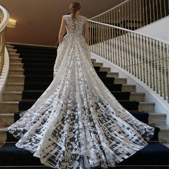 Sale Cheap Ivory Highend Luxury embroidery lace fabrics Dress fabrics Wedding dress material fabrics 1a0D aoq0