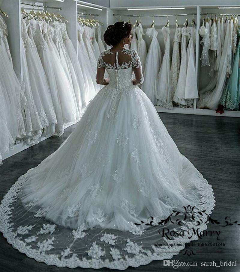 luxury sequined beaded arabic wedding dresses