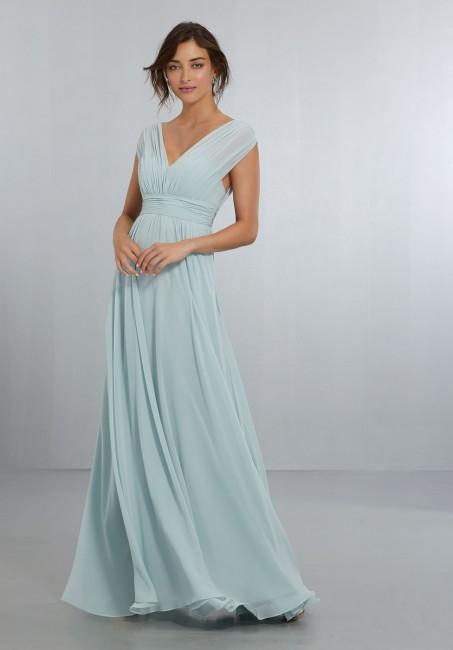 mori lee empire waist bridesmaid dress 01 340