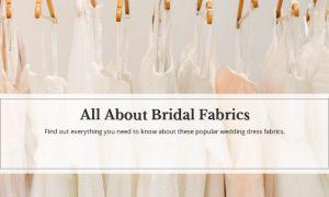 25 Elegant Wedding Dresses Fabrics Guide