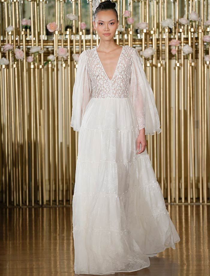 wedding gowns with feathers best of the biggest wedding dress trends from spring 2018 bridal fashion