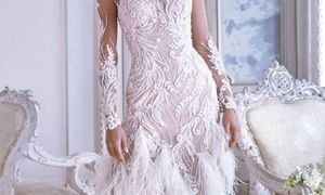 27 New Wedding Dresses Feathers