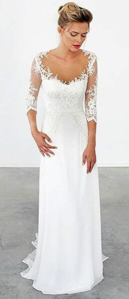casual wedding dresses for second marriages plus size