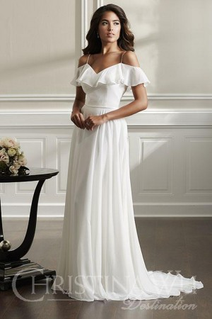 christina wu ruffle top wedding dress 01 545