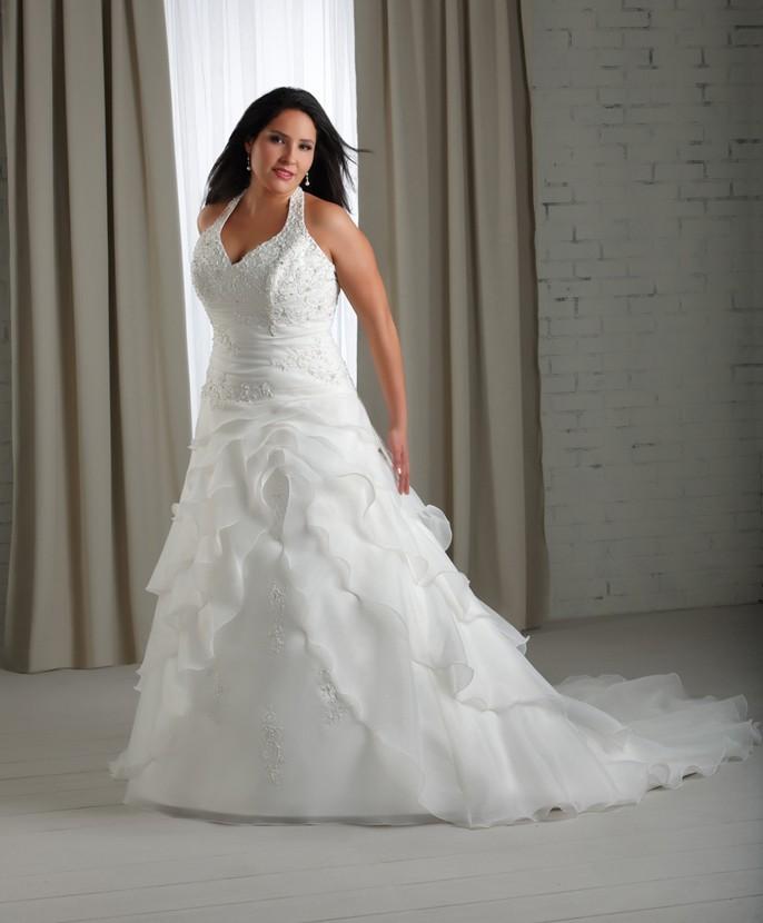 big bust wedding gown