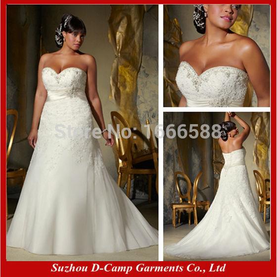 Free Shipping WD 1147 Elegant empire line big boobs wedding dress big size wedding dress plus