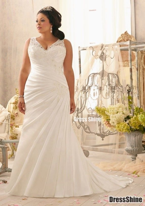 Wedding Dresses for Bigger Women Elegant Beautiful Second Wedding Dress for Plus Size Bride
