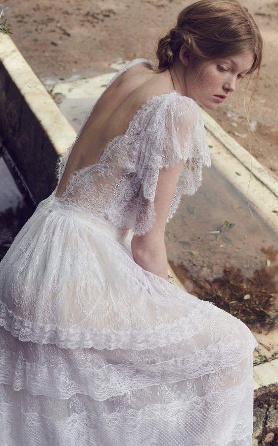 Wedding Dresses for Eloping Unique Romantic Vintage Wedding Dress Costarellos Bridal