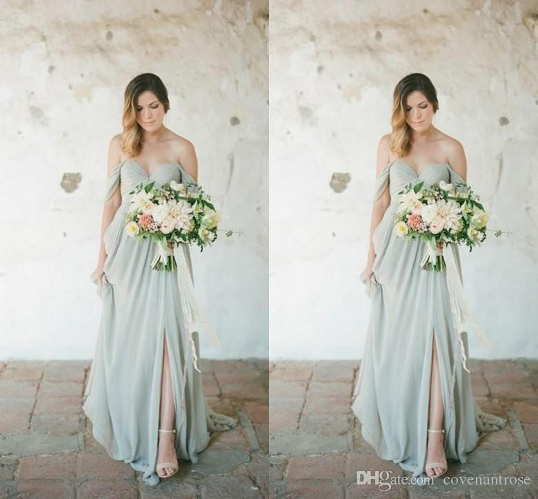 beach wedding dresses for guest luxury new cheap bohemian beach bridesmaid dresses f shoulder ruffles of beach wedding dresses for guest