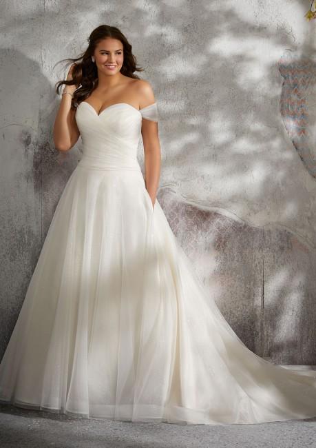 Wedding Dresses for Larger Busts New Mori Lee 3245 Lyla Drop Waist Plus Size Wedding Gown