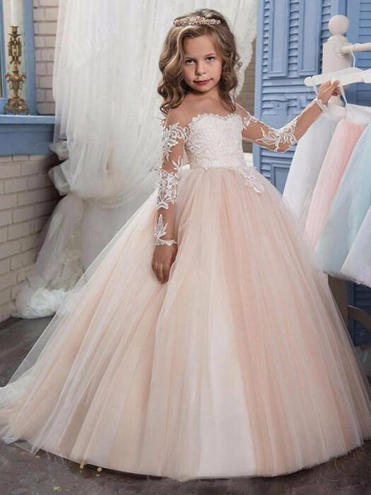 Wedding Dresses for Little Girl Elegant Lovely Princess Dress Girls Outfits In 2019