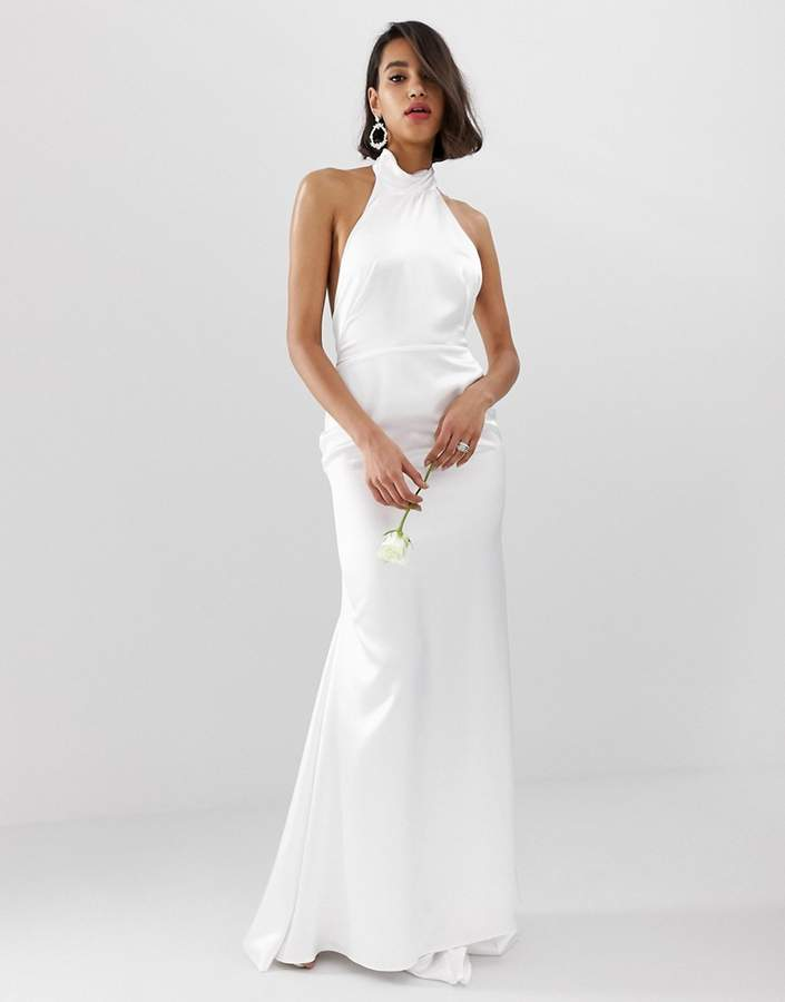 Asos Edition EDITION halter backless maxi wedding dress