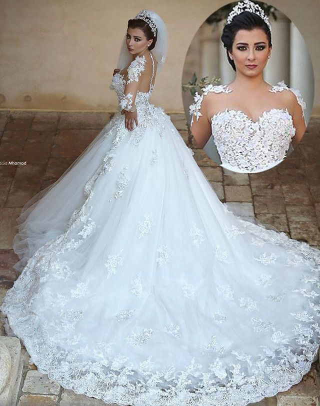 Wedding Dresses Honolulu Best Of Princess Long Wedding Dress Sheer Neck Long Sleeves Ball