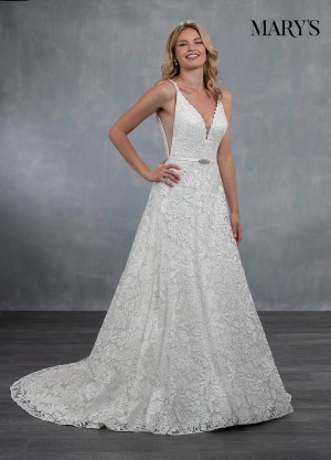 marys bridal mb3057 open v back wedding dress 01 546