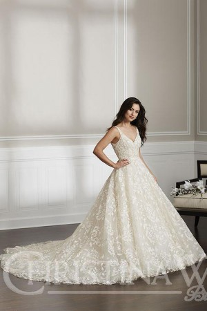 christina wu plunging v back wedding dress 01 541