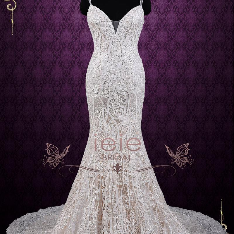 champagne lace mermaid wedding dress with open back ieiebrdial qn1716 2 400x400 crop center 2x