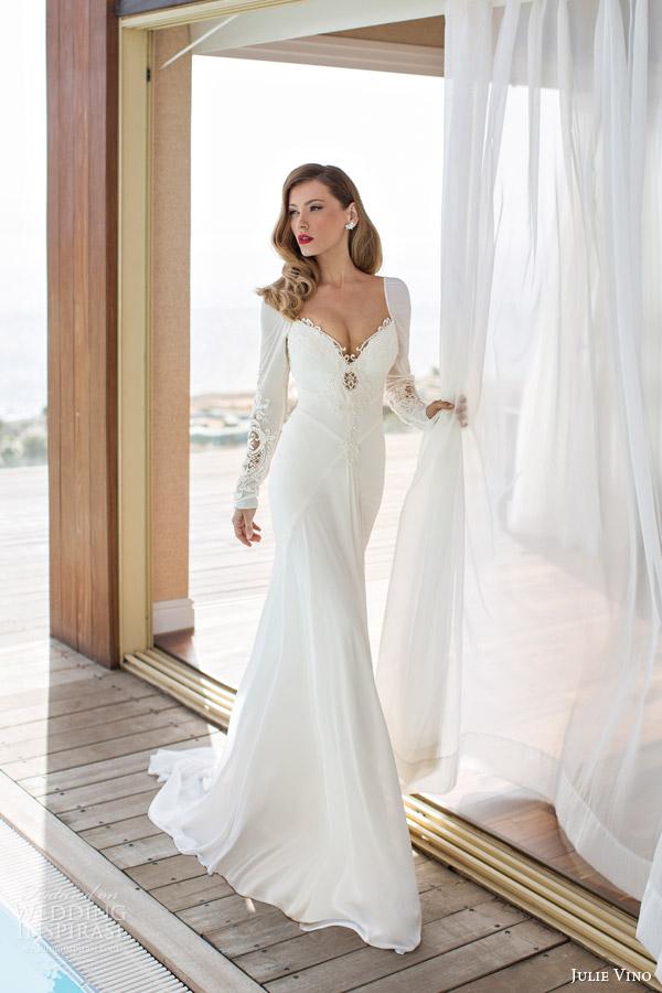 julie vino spring melanie wedding dress long sleeves