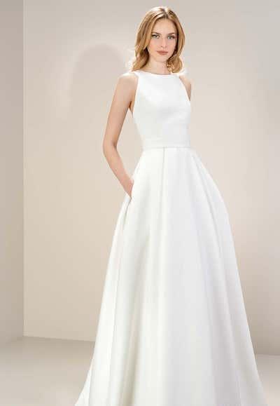 20 Perfect Wedding Dresses Minimalist TheEverygirl 2