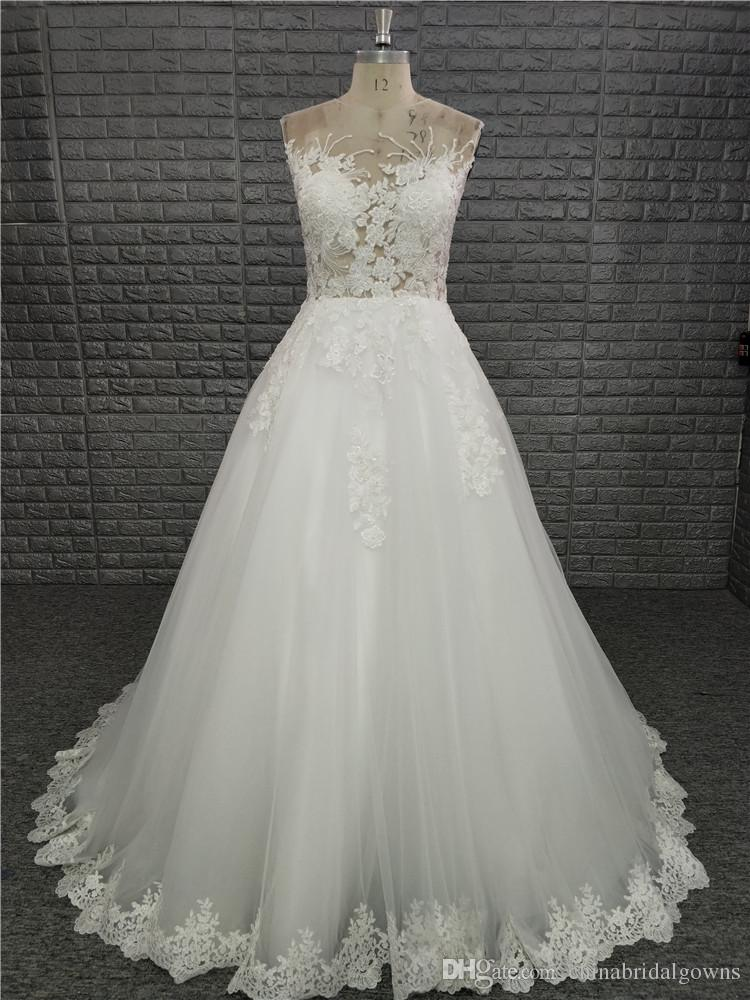 simple winter wedding dresses new simple a line wedding dress 2018 real s sheer jewel neck lace