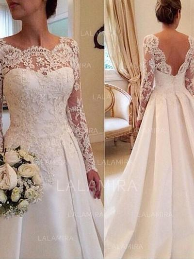 Wedding Dresses Size 10 Luxury Modern Ball Gown with Satin Lace Wedding Dresses