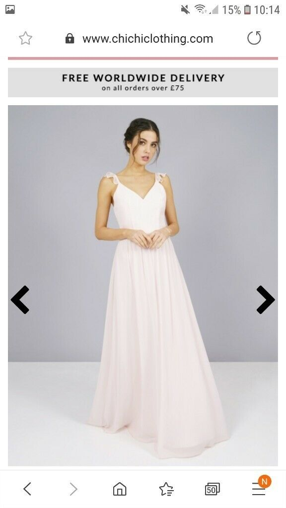 Wedding Dresses Size 10 Luxury Stunning Bridesmaid Prom Dress In Brimington Derbyshire