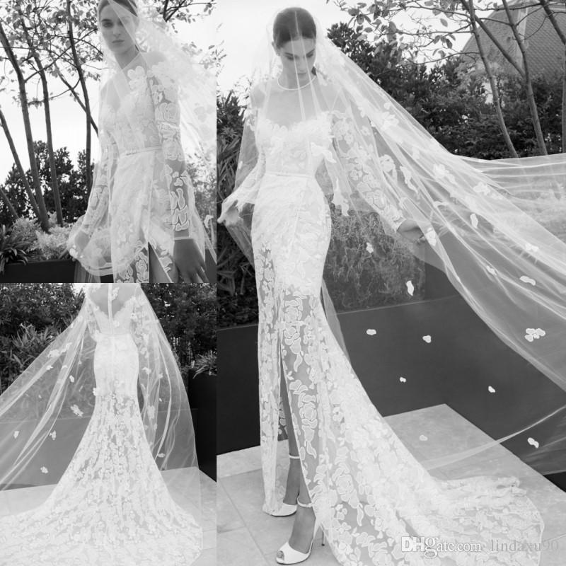 elie saab 2019 mermaid split wedding dresses