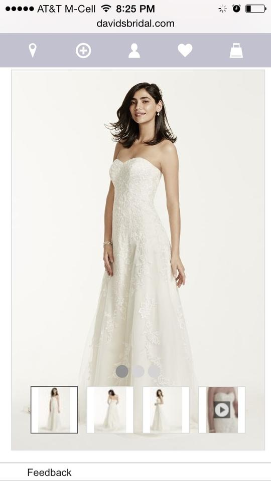 david s bridal champagne lace overlay v3587 traditional wedding dress size 14 l 5 0 960 960
