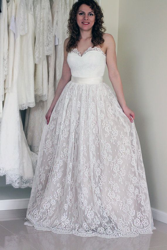 Wedding Dresses Skirt Beautiful Lace Skirt Lace Wedding Skirt Bridal Separates Tulle