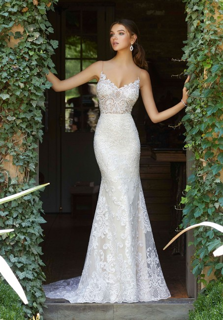 mori lee 5704 peyton spaghetti straps wedding gown 01 578