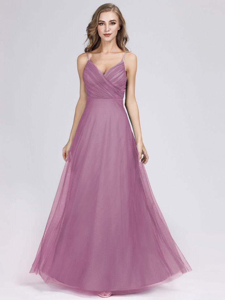 purple bridesmaid dresses under 100 inspirative od adjustable spaghetti straps long blush chiffon bridesmaid pictures 728x971