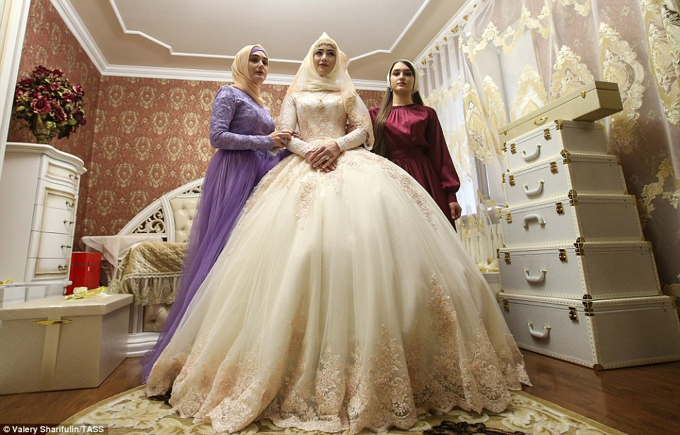 Wedding Dresses Under 150$ Beautiful Chechen Bride Prepares for Three Day event where She is